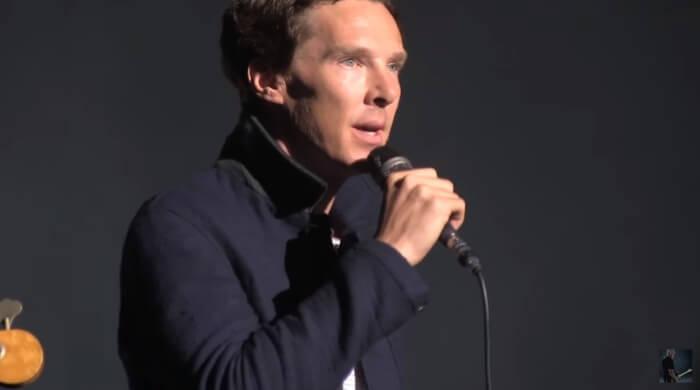 Benedict Cumberbatch com David Gilmour