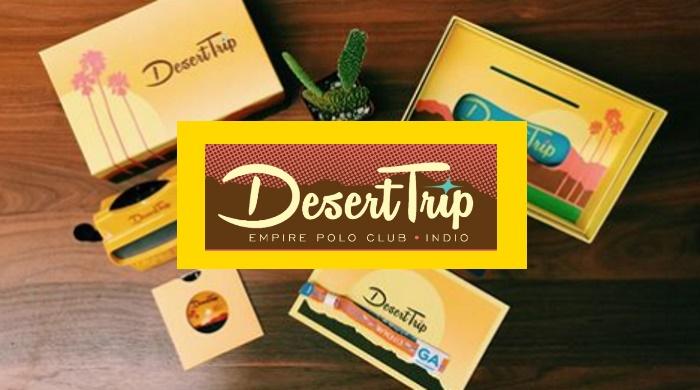Kit com ingressos do festival Desert Trip