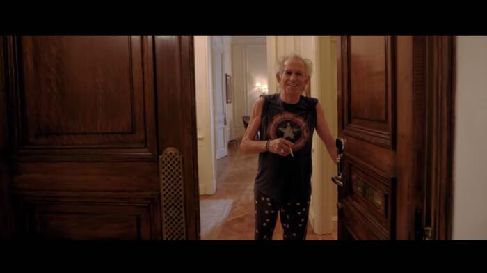 Keith Richards no filme Olé Olé Olé