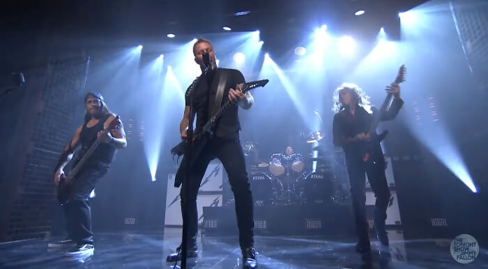 Metallica no programa de Jimmy Fallon