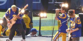 Red Hot Chili Peppers em jogo do Los Angeles Rams