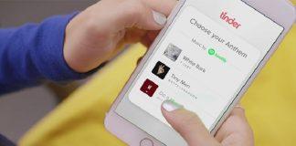 Tinder lança integração com Spotify que permite mostrar o seu gosto musical