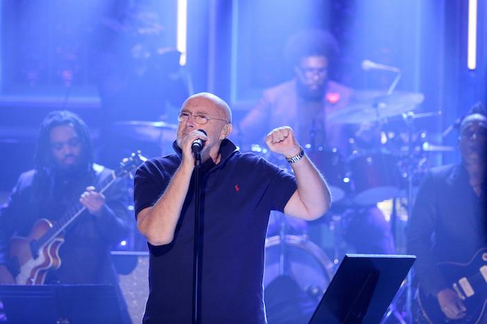 Phil Collins no programa de Jimmy Fallon
