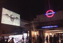 Logotipo do Avenged Sevenfold em Londres