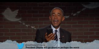 Barack Obama lê mean tweets