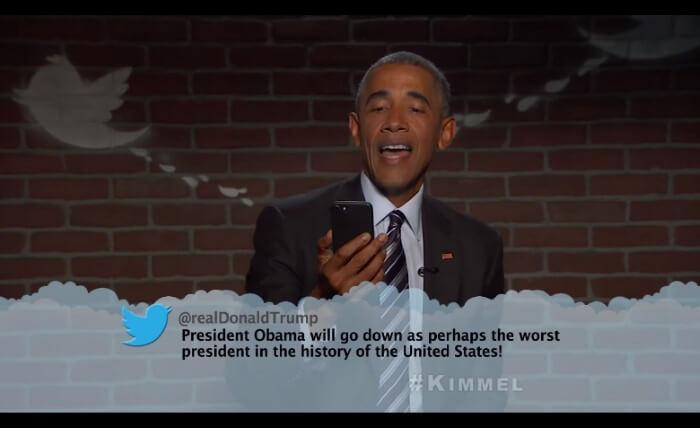 Barack Obama lê mean tweets