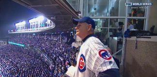 Bill Murray no estádio do Chicago Cubs