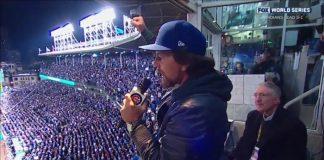 Eddie Vedder canta no estádio do Chicago Cubs