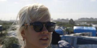 Lily Allen no campo de refugiados de Calais