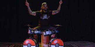 Mike Portnoy e a bateria de Pokémon