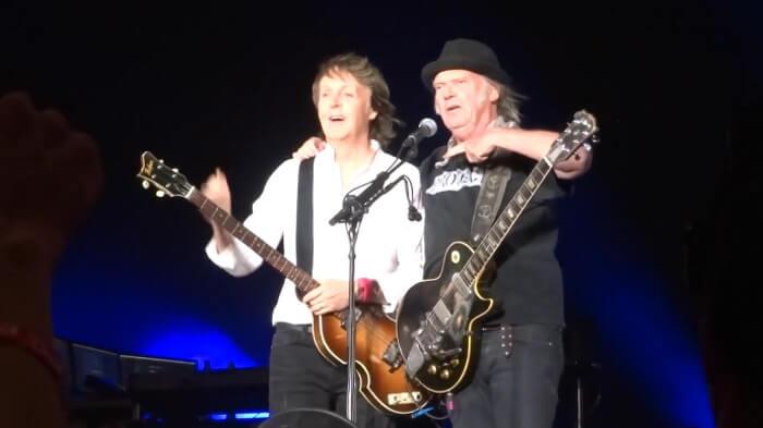 Paul McCartney e Neil Young no Desert Trip