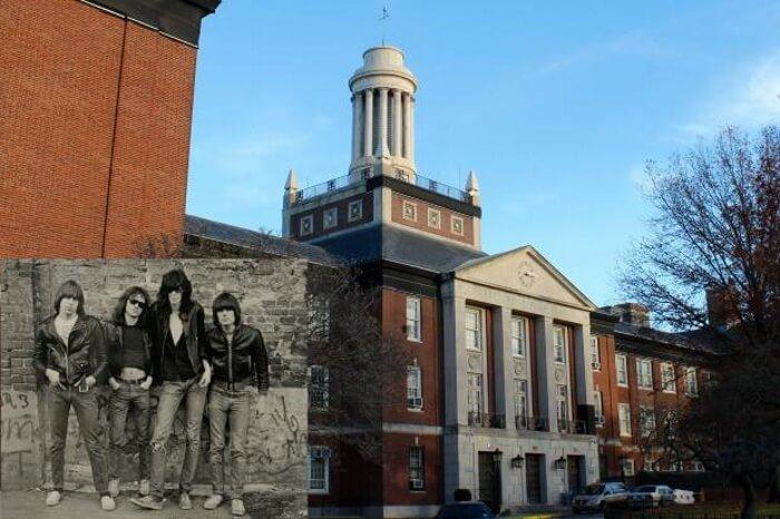 Forest Hills High School, onde estudaram integrantes do Ramones