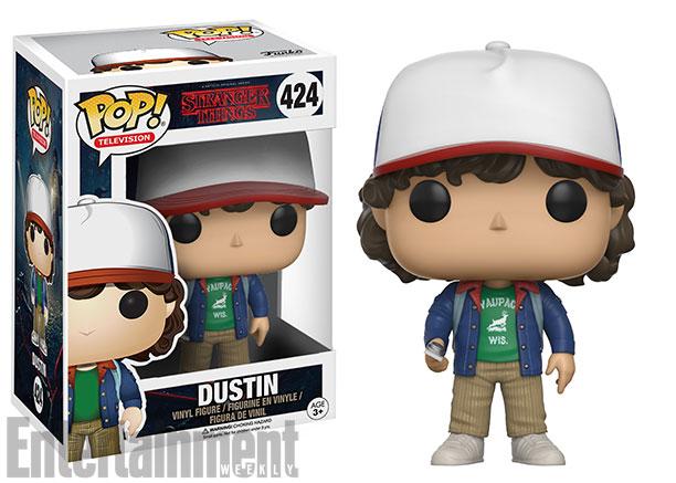 Dustin, de Stranger Things, em boneco Funko