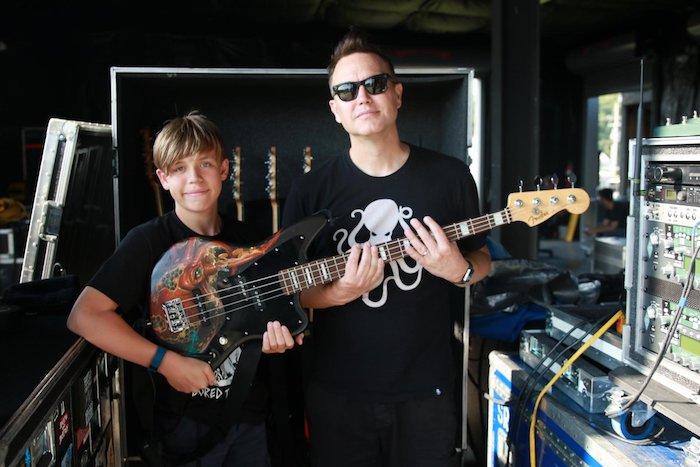 Mark Hoppus e seu filho