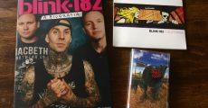Kit do Blink-182 com CD, livro e fita K7