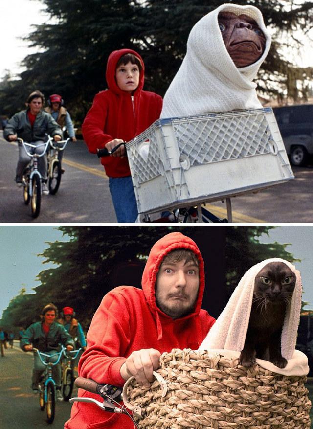E.T. com Gatos