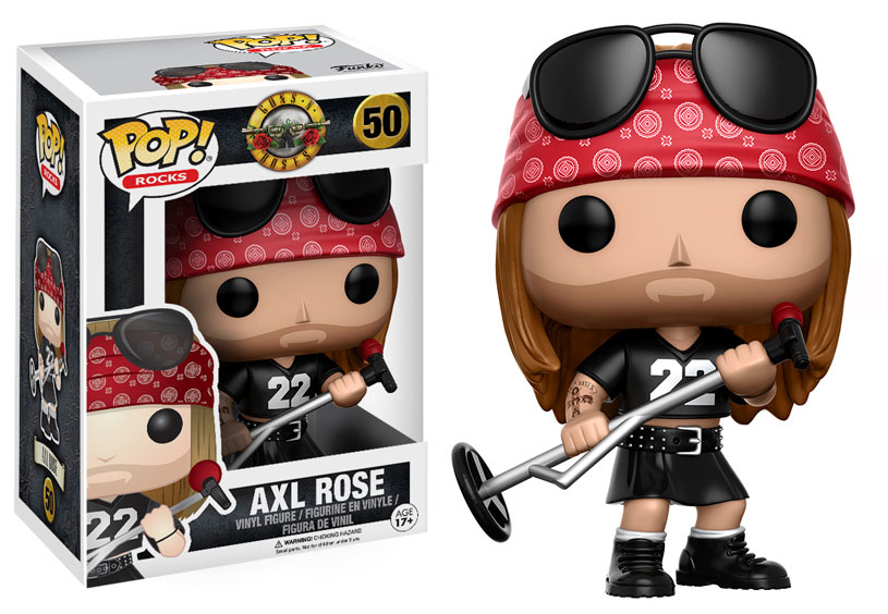 Guns N Rose ganha bonecos Funko: Axl Rose