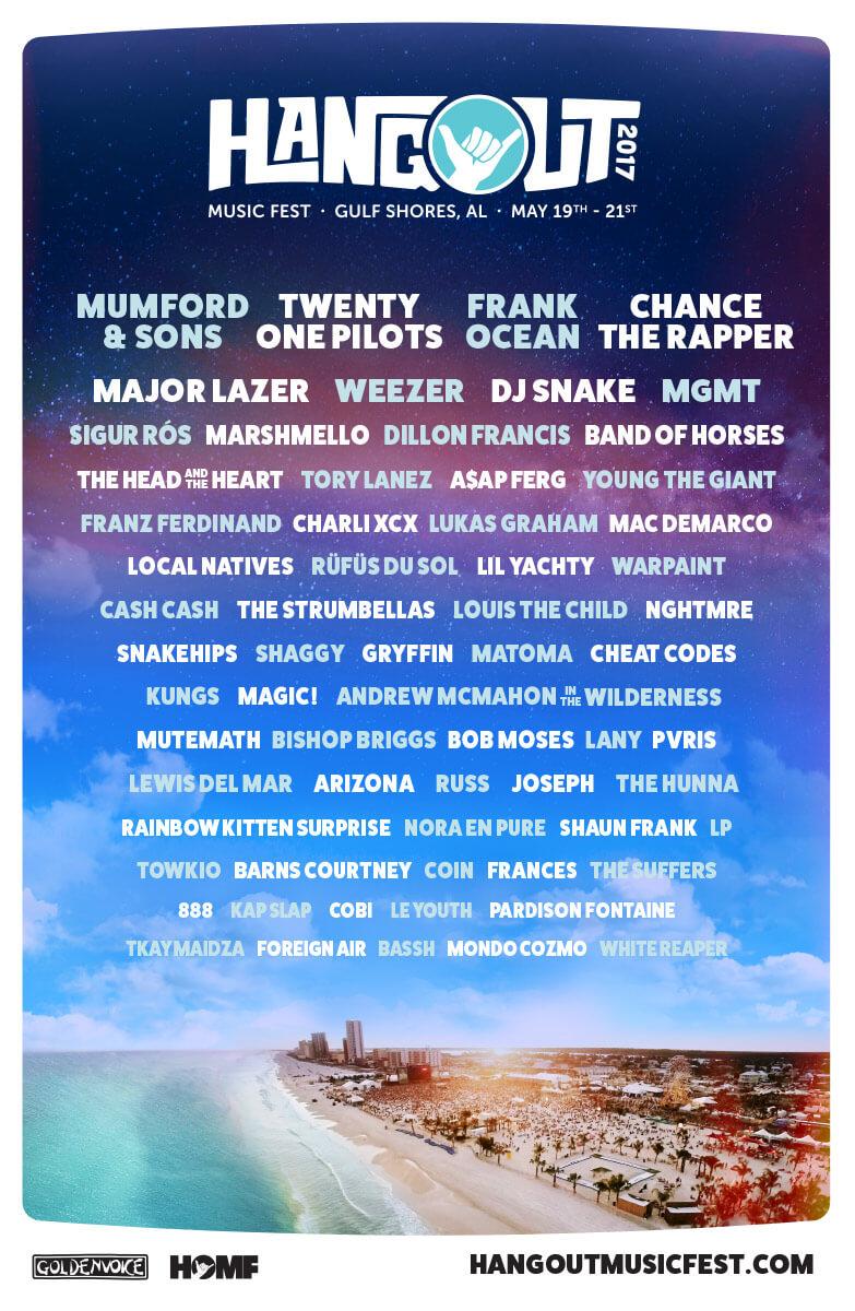 Line-up do festival Hangout