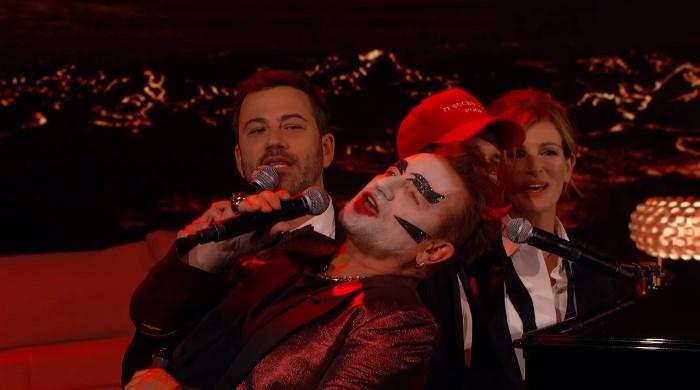Jimmy Kimmel, Bono, Brandon Flowers e Julia Roberts