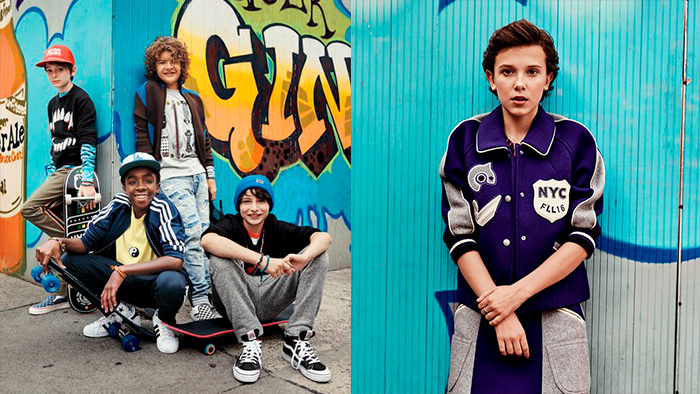 Editorial da revistas GQ com o elenco de Stranger Things