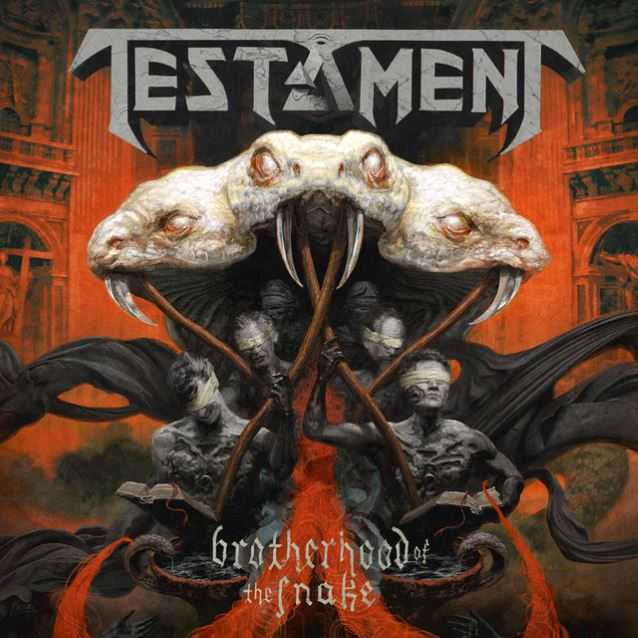 "capa do disco ""brotherhood of the snake"" do testament"