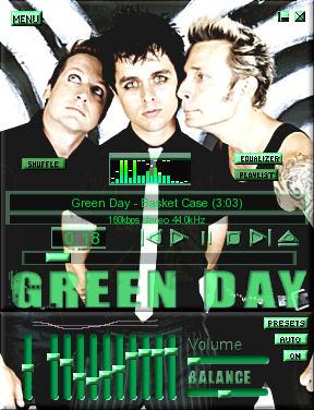 Skin do Green Day para Winamp