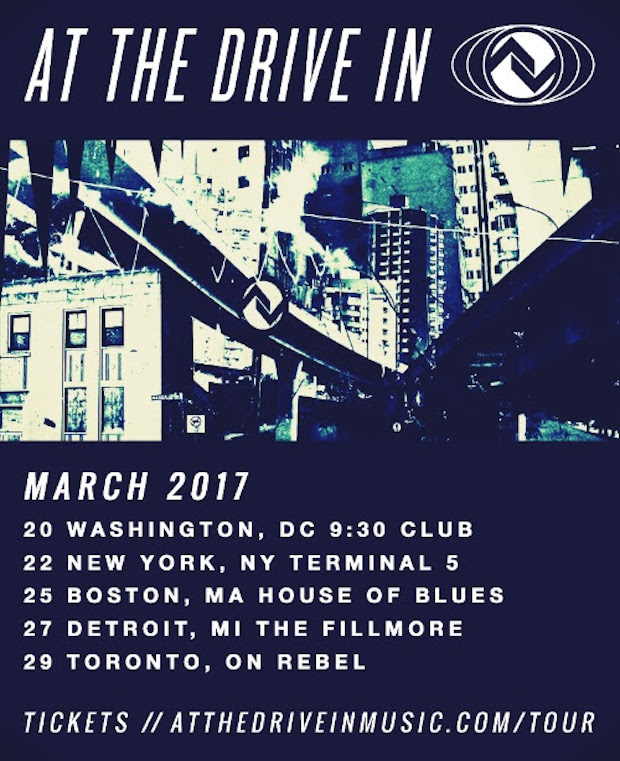 At The Drive-In - turnê 2017