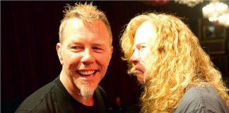 Dave Mustaine e James Hetfield Metallica