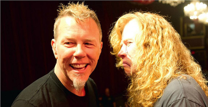 Dave Mustaine e James Hetfield Metallica