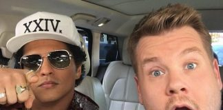 Bruno Mars canta hits com James Corden no Carpool Karaoke