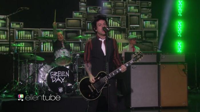 Green Day no programa da Ellen