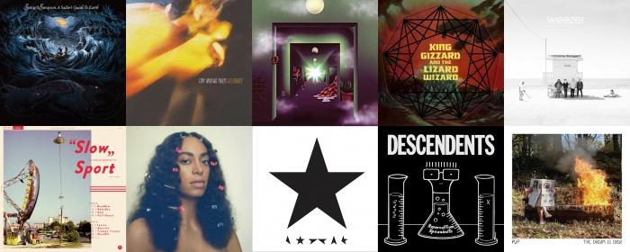 Os 50 melhores discos internacionais de 2016