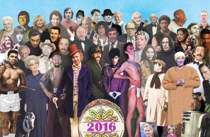Capa de Sgt. Pepper's com artistas que morreram em 2016