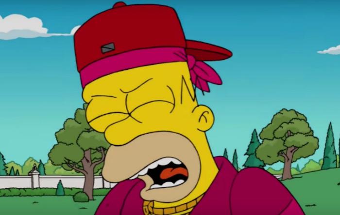 Homer no episósio de hip hop dos Simpsons