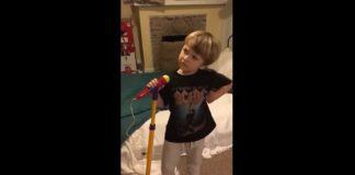 Criança canta AC/DC em vídeo