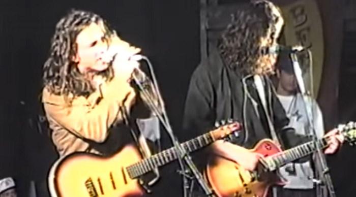 Eddie Vedder e Chris Cornell no Lollapalooza 1992