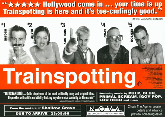 "poster original do filme ""trainspotting"""