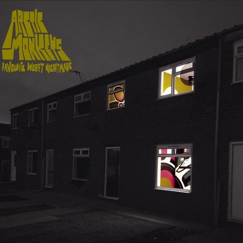 "capa do disco ""favourite worst nightmare"" do arctic monkeys"