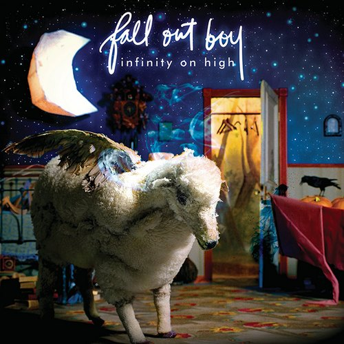 "capa do disco ""infinity on high"" do fall out boy"