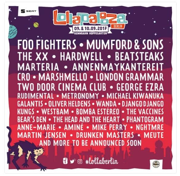 Lollapalooza Berlim 2017