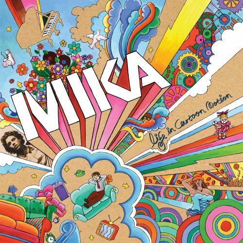 "capa do disco ""life in cartoon motion"" do mika"