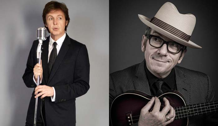 Paul McCartney e Elvis Costello