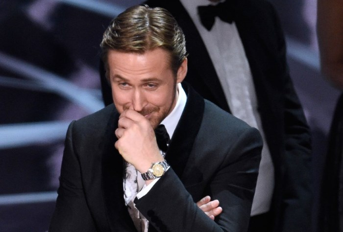 Ryan Gosling no Oscar 2017