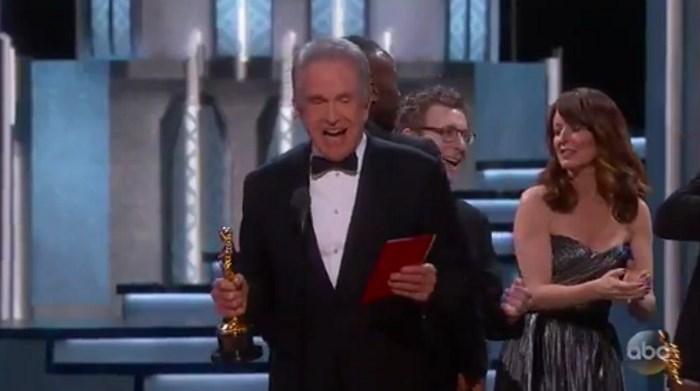 Warren Beatty no Oscar