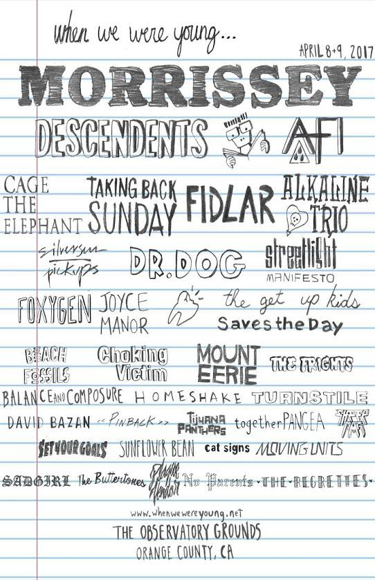 Line-up do festival When We Were Young