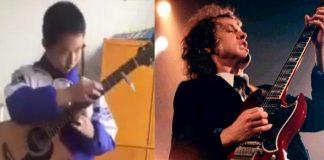 Garoto chinês faz cover de AC/DC