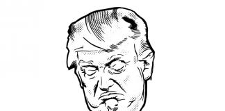 Ilustração de Donald Trump