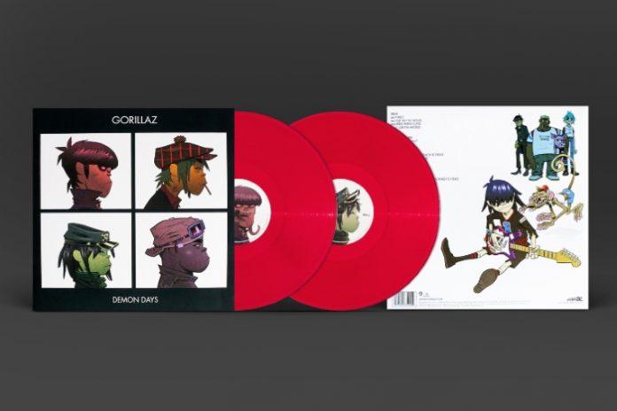 Demon Days (Gorillaz) em vinil vermelho