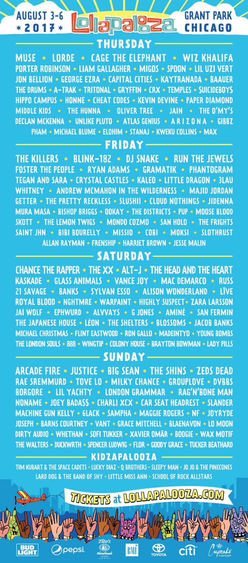Lollapalooza 2017 - Line-up