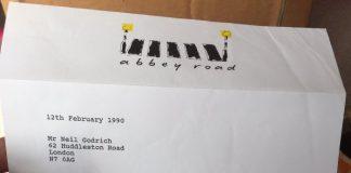 Carta de Nigel Godrich em Abbey Road